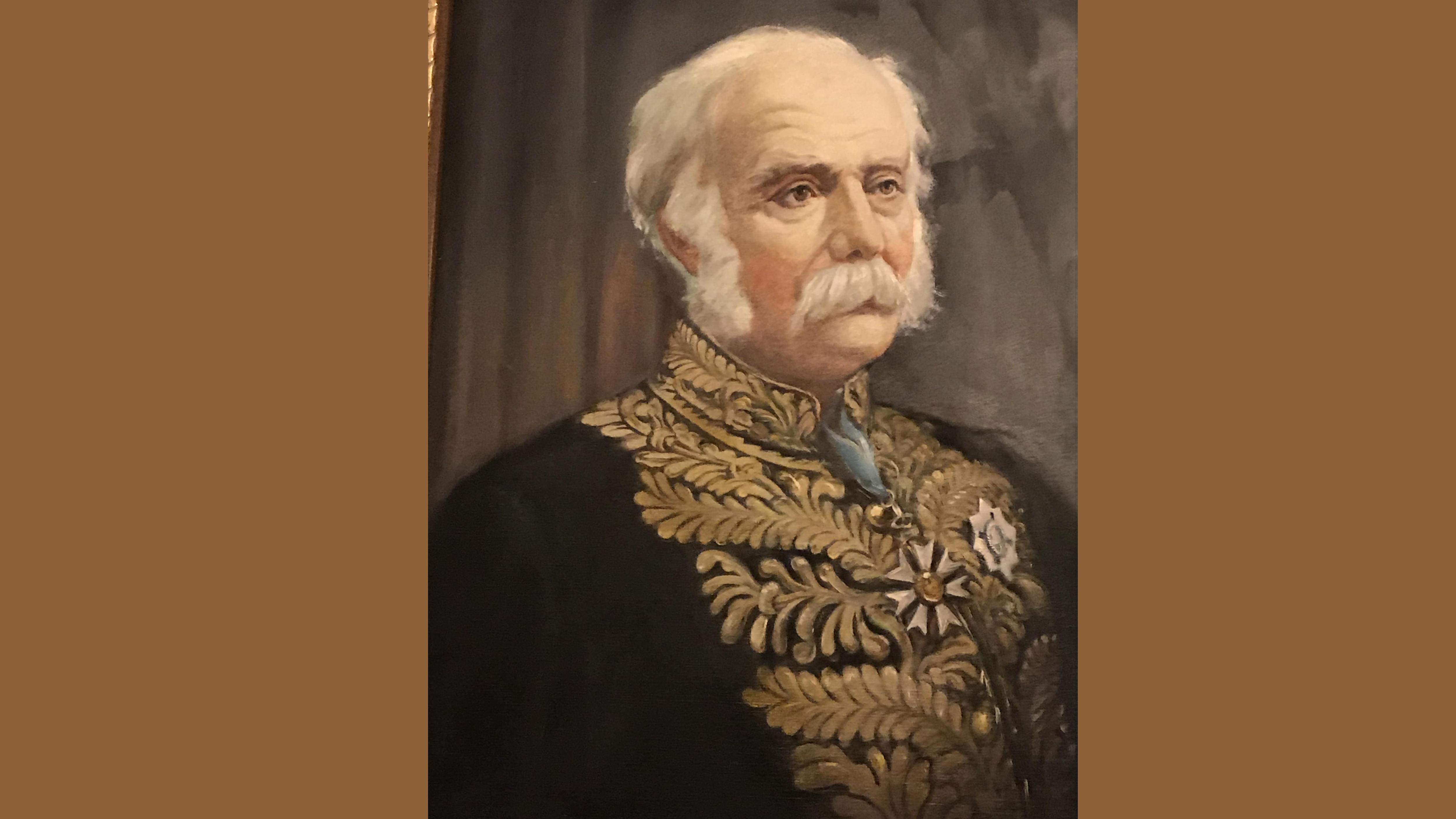 Portrait peint de sir Henri Gustave Joly de Lotbinière.
