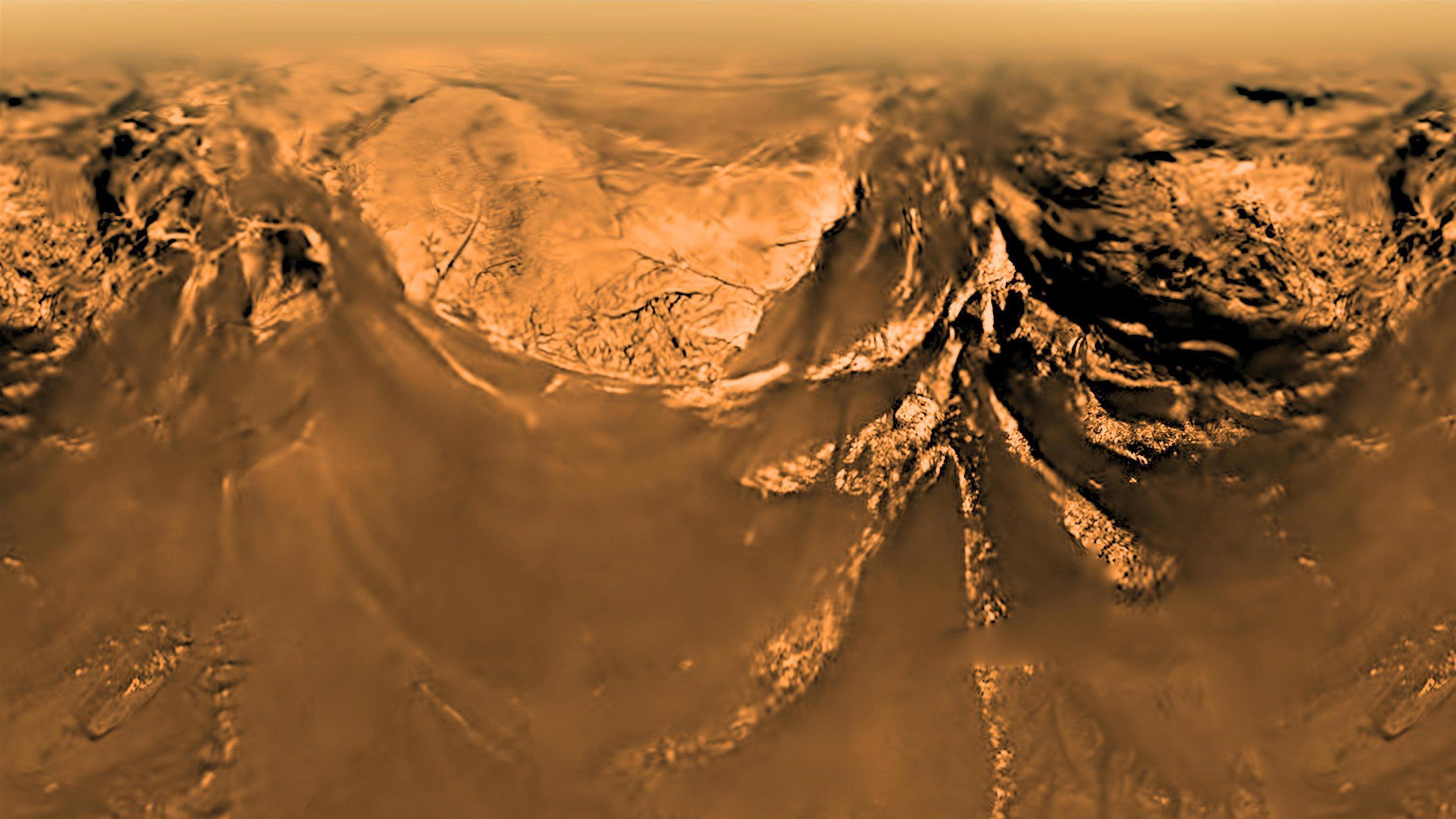 Photo prise par Huygens durant sa descente sur Titan