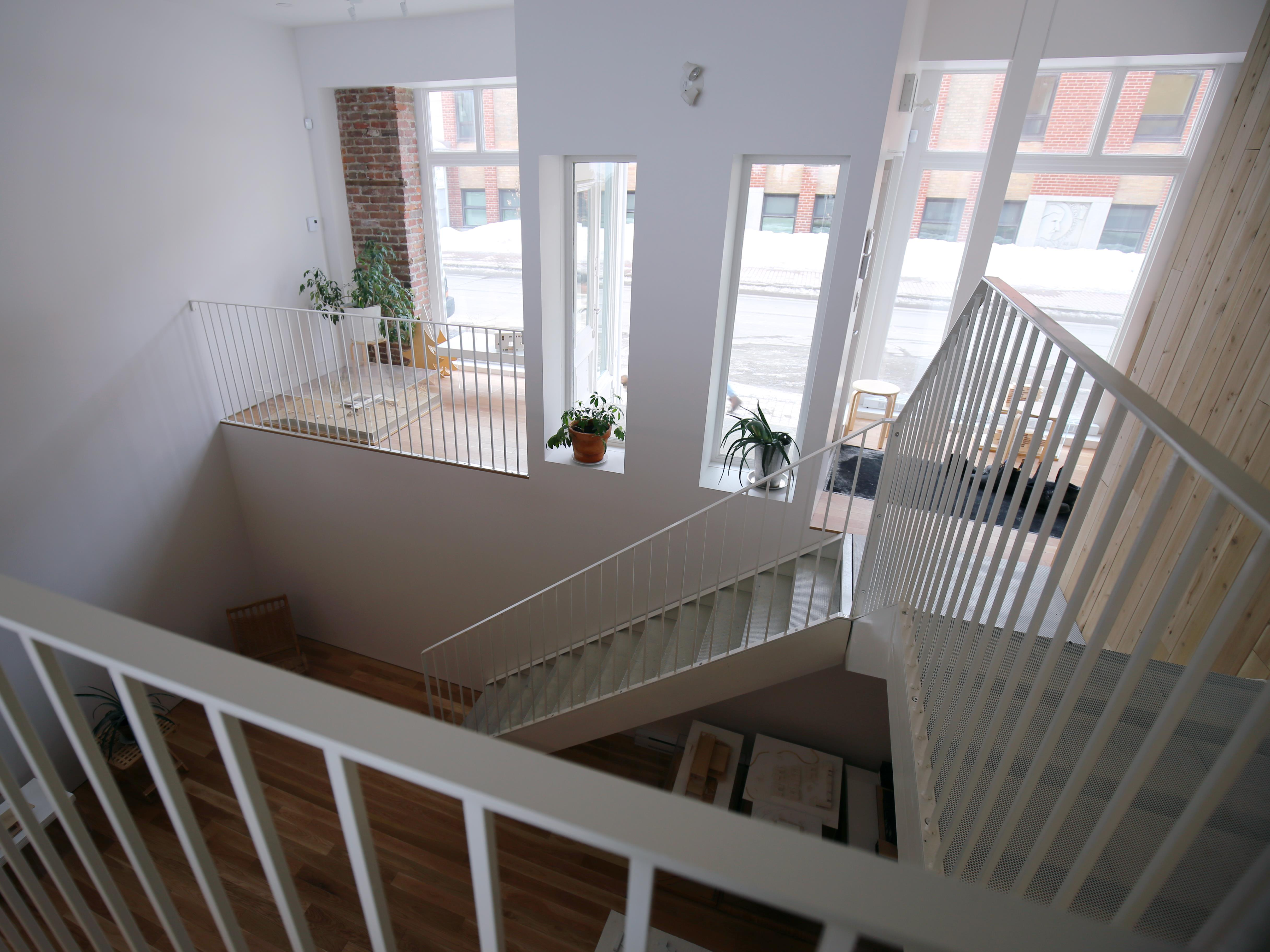 L'étage du bas des bureaux