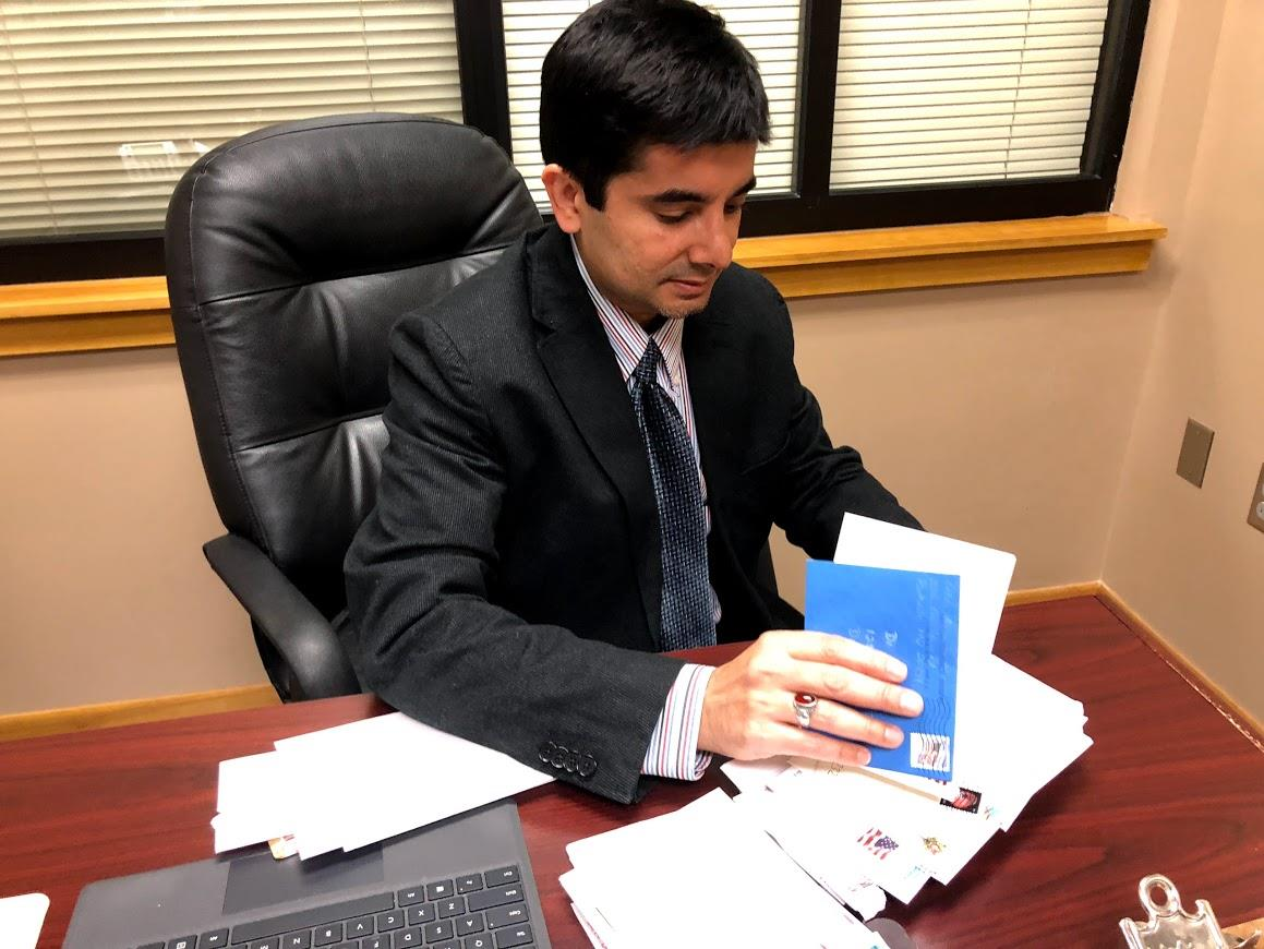 Ayaz Virji receives many letters of encouragement.