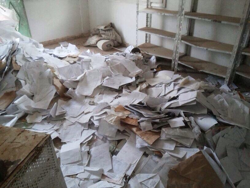 Documents trouvés dans un des bureaux du gouvernement syrien.