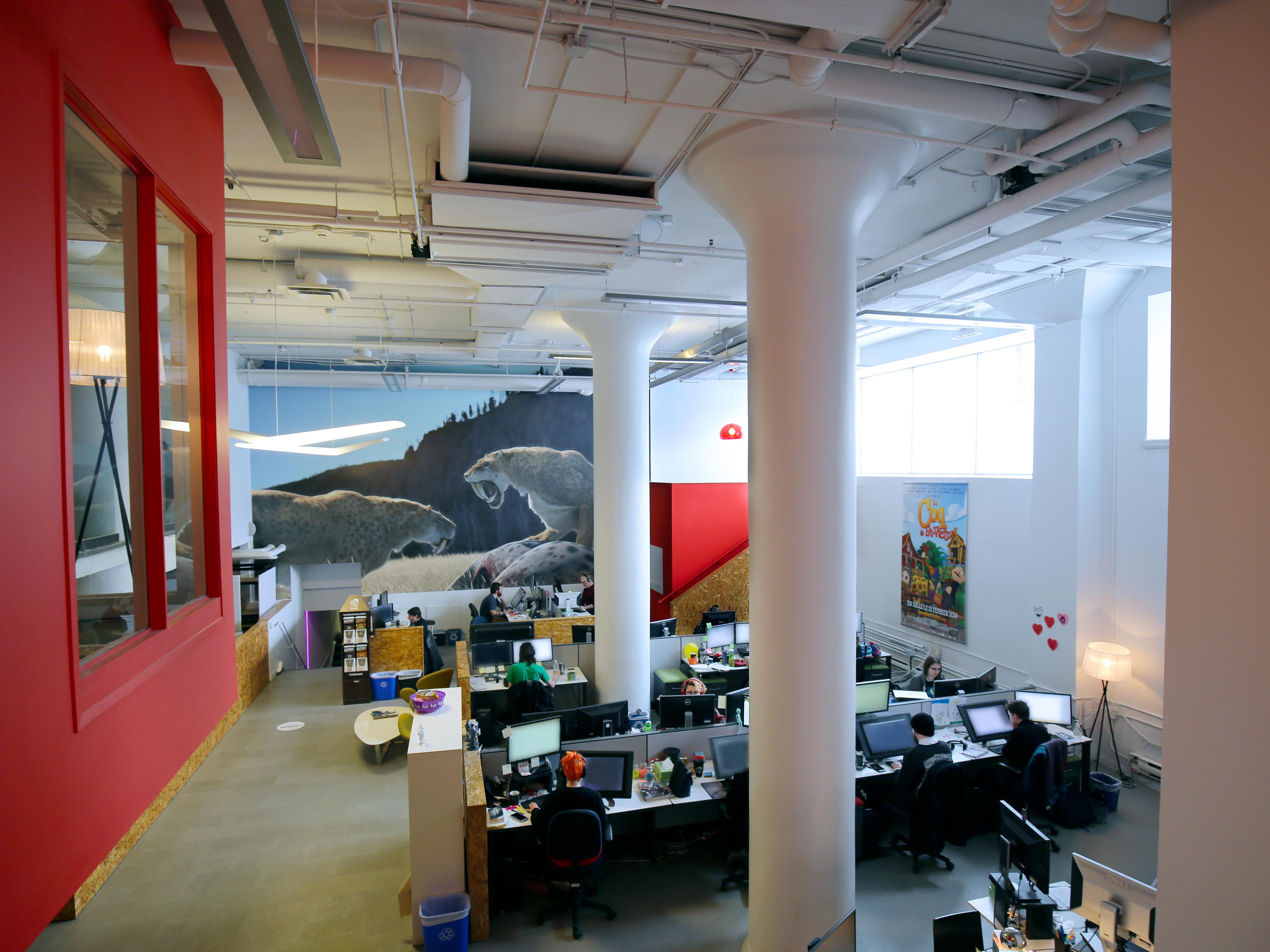 Une des salles de travail