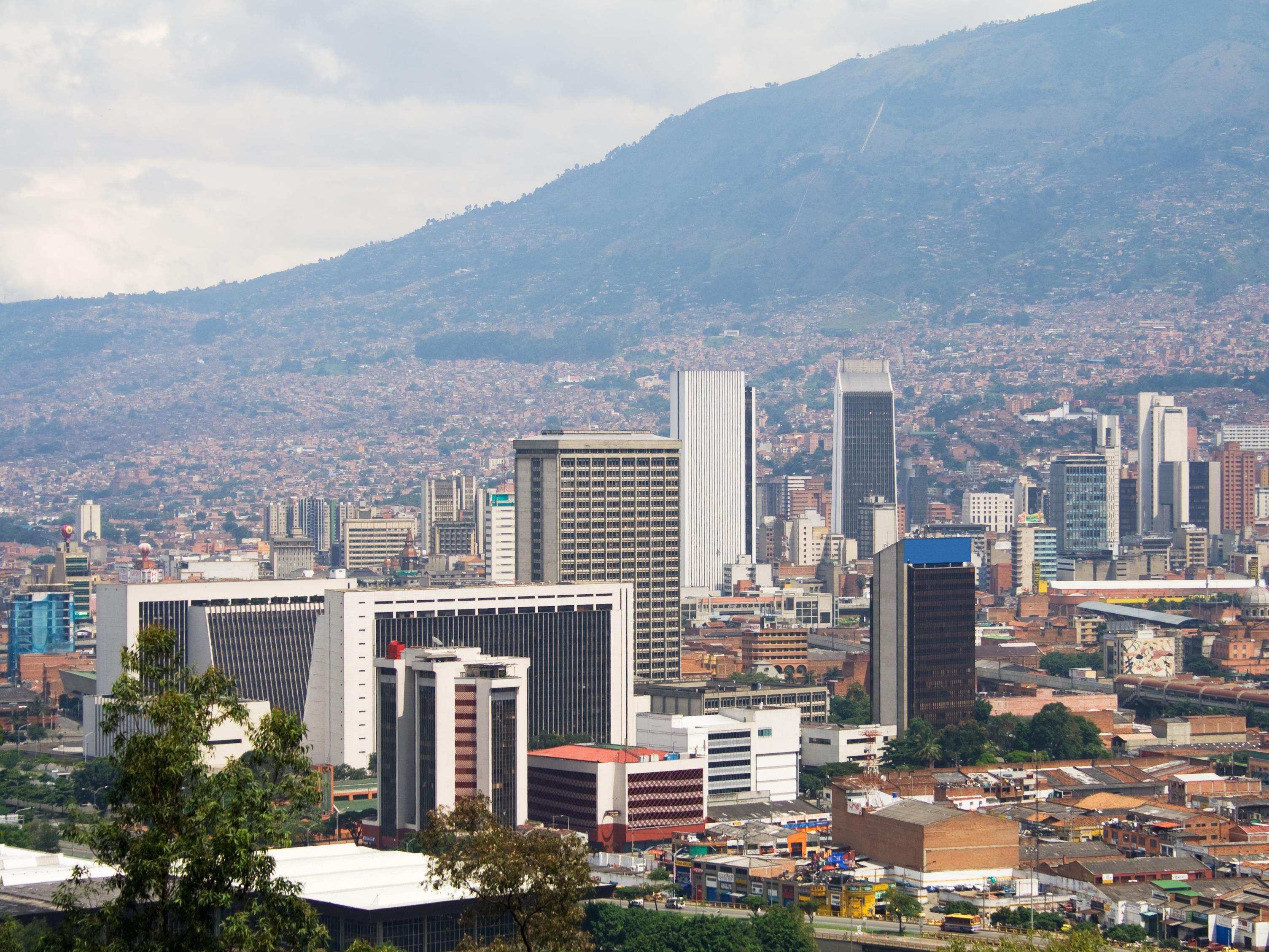 Le centre-ville de Medellin