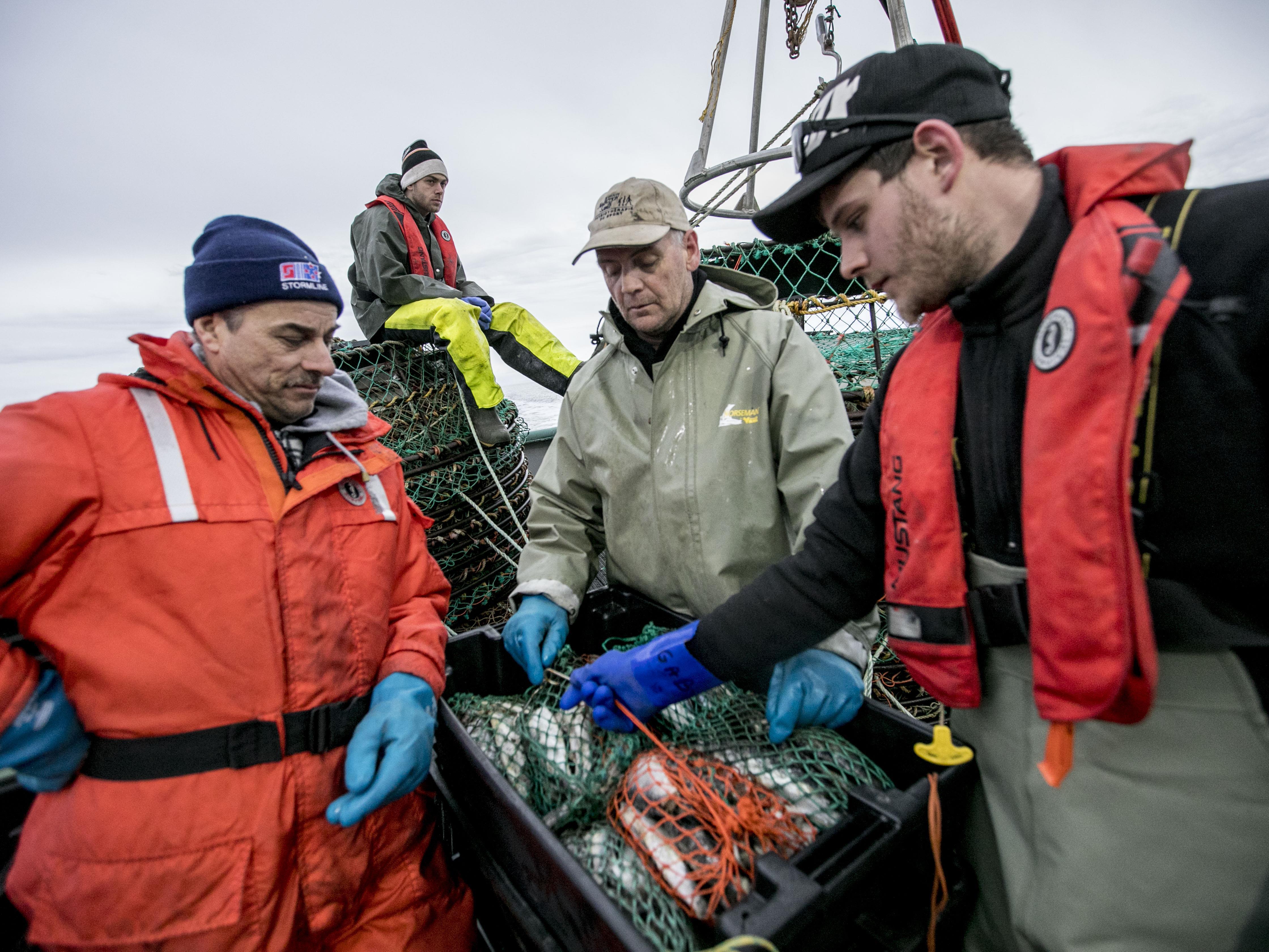 Les pêcheurs prennent une pause