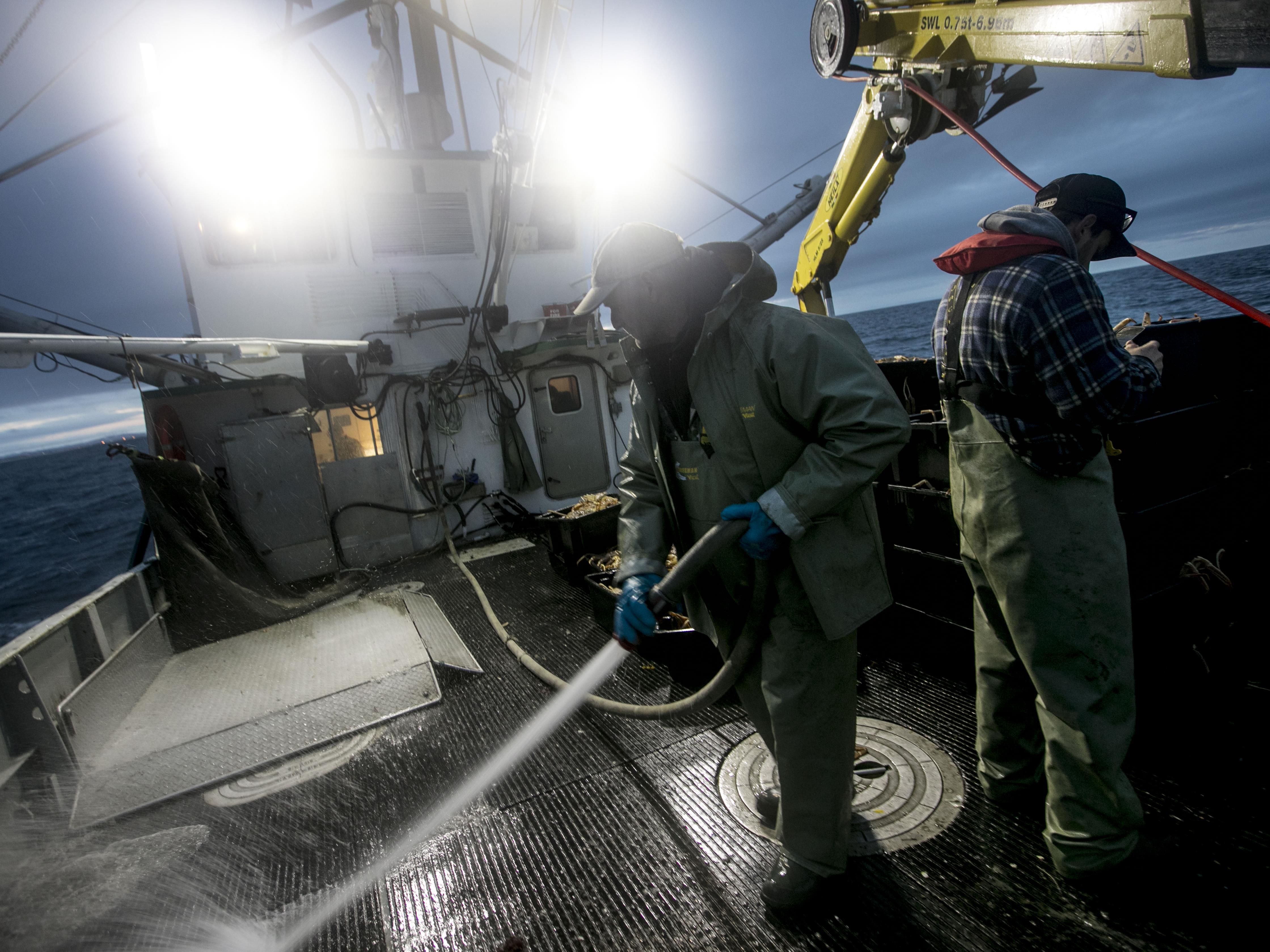 Le nettoyage du bateau