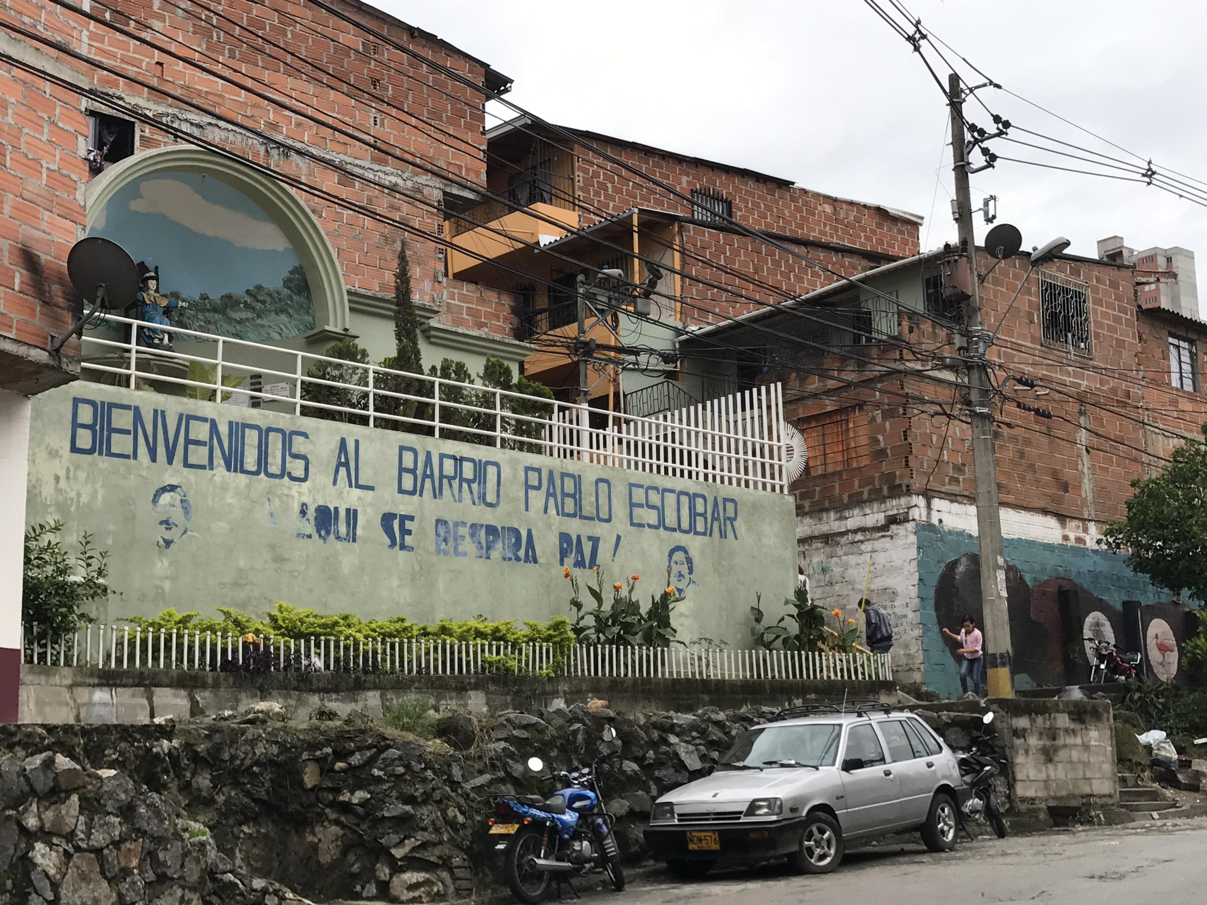 Le quartier Pablo Escobar à Medellin