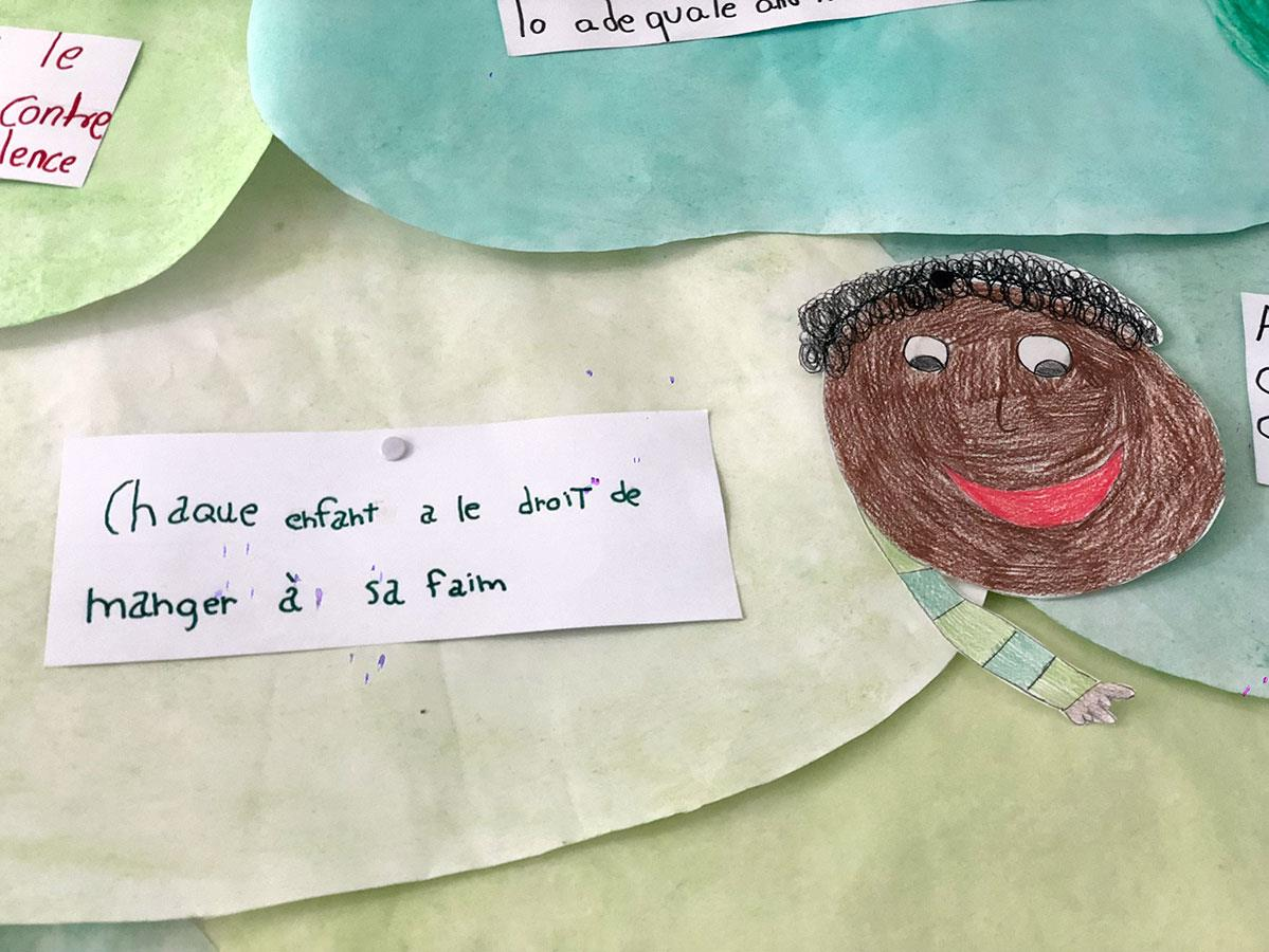 Les enfants de l'école Sutera ont été sensibilisés aux difficultés qu'ont vécues leurs nouveaux petits camarades.