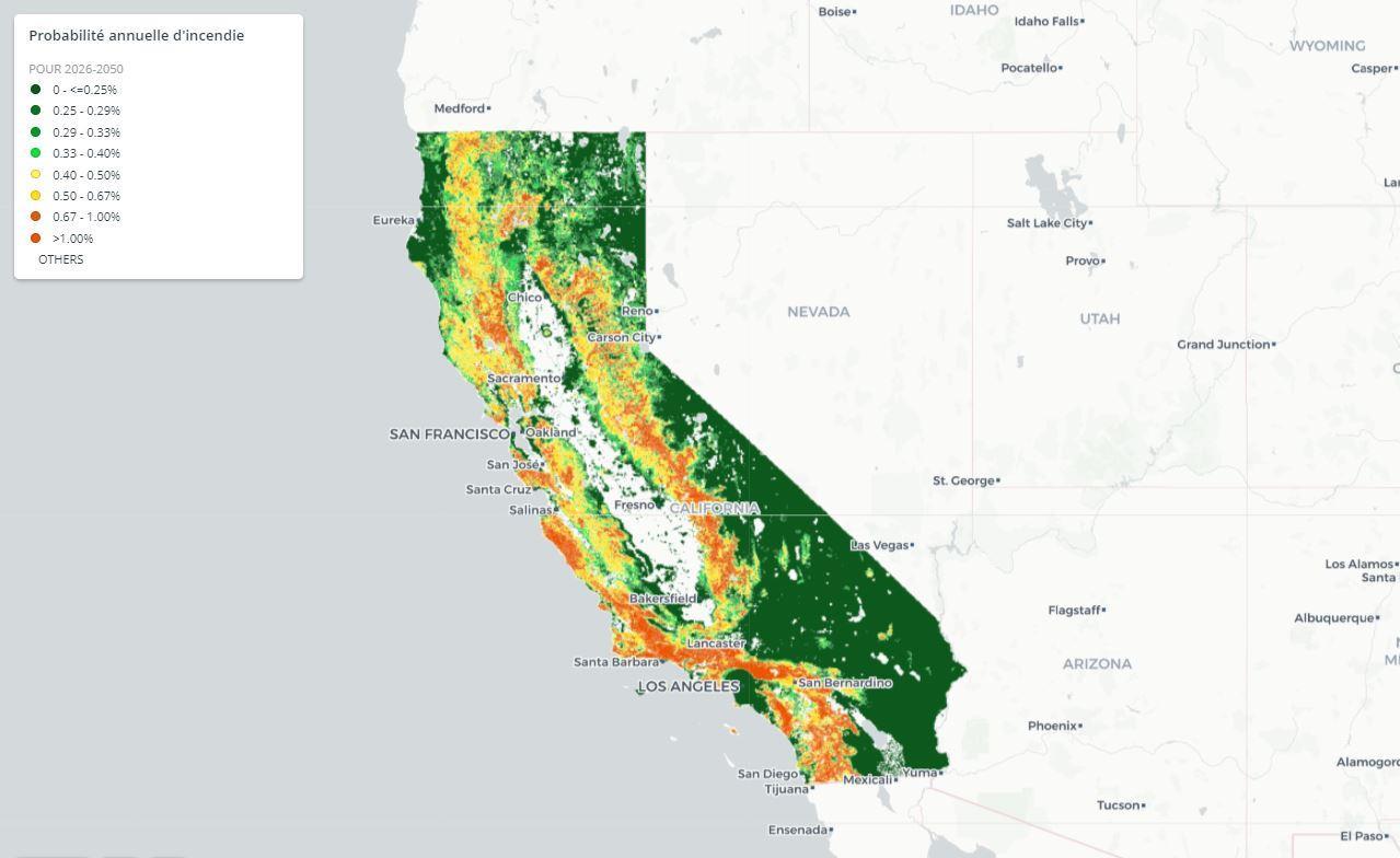 carte de la californie