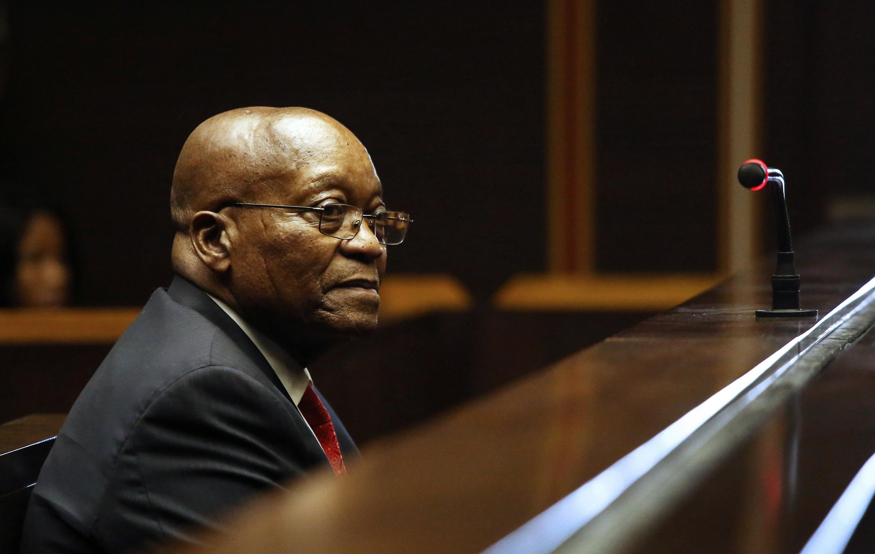 Jacob Zuma comparaît devant la Haute Cour de Pietermaritzburg le 27 juillet 2018.