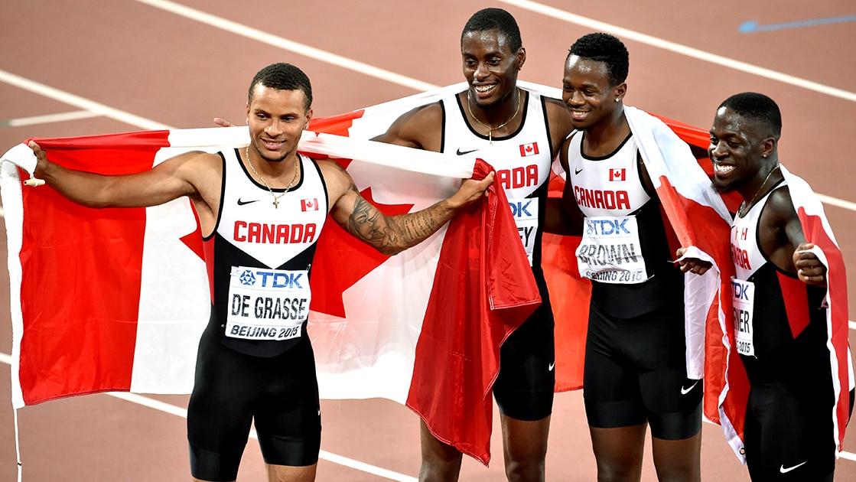 Le quatuor canadien remporte l'or au 4 x 200 m aux Bahamas