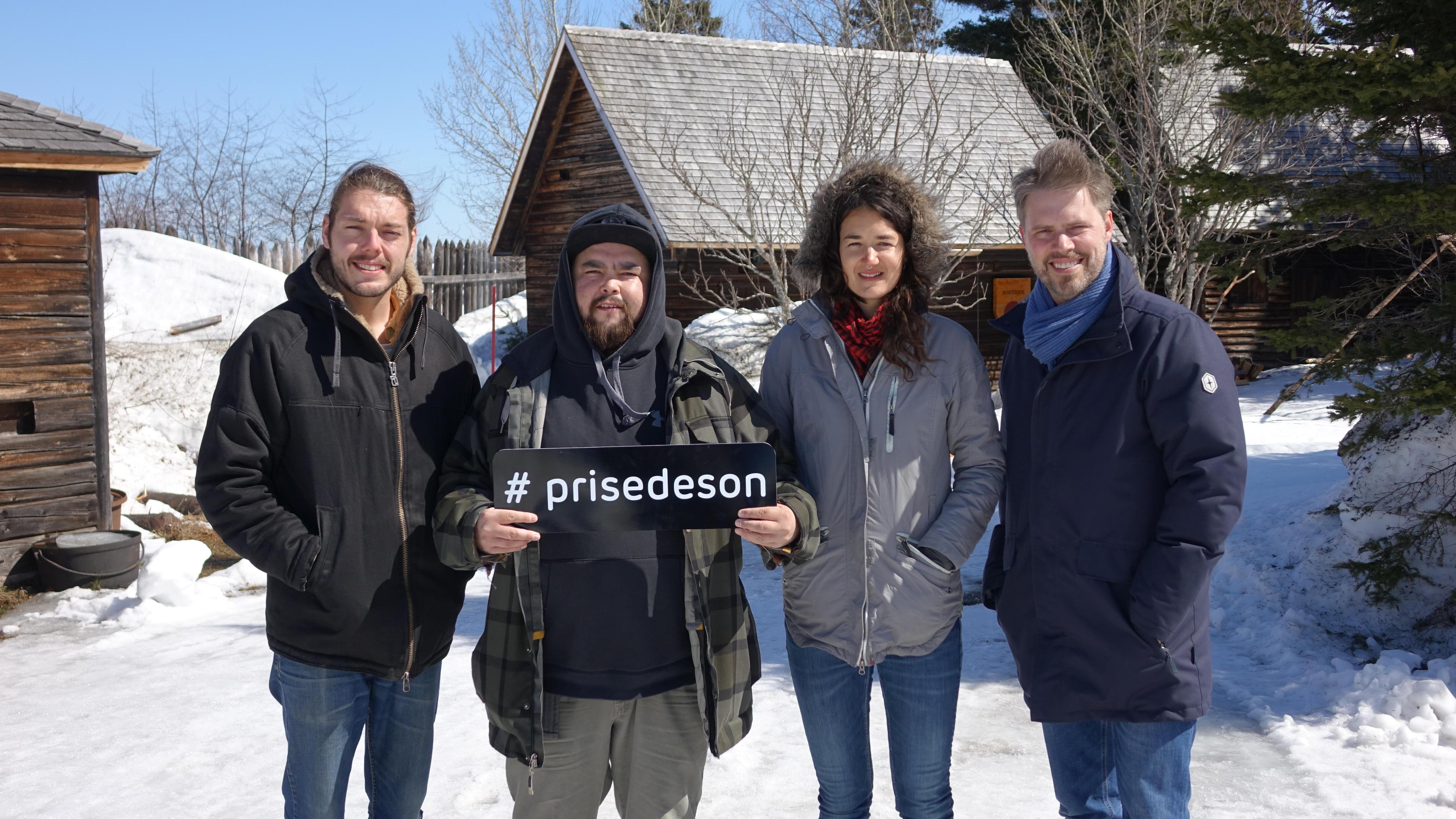 Etienne Fletcher, Matiu, Maggie Savoie et Jean-François Breau au Vieux-Poste de Sept-Îles au Québec