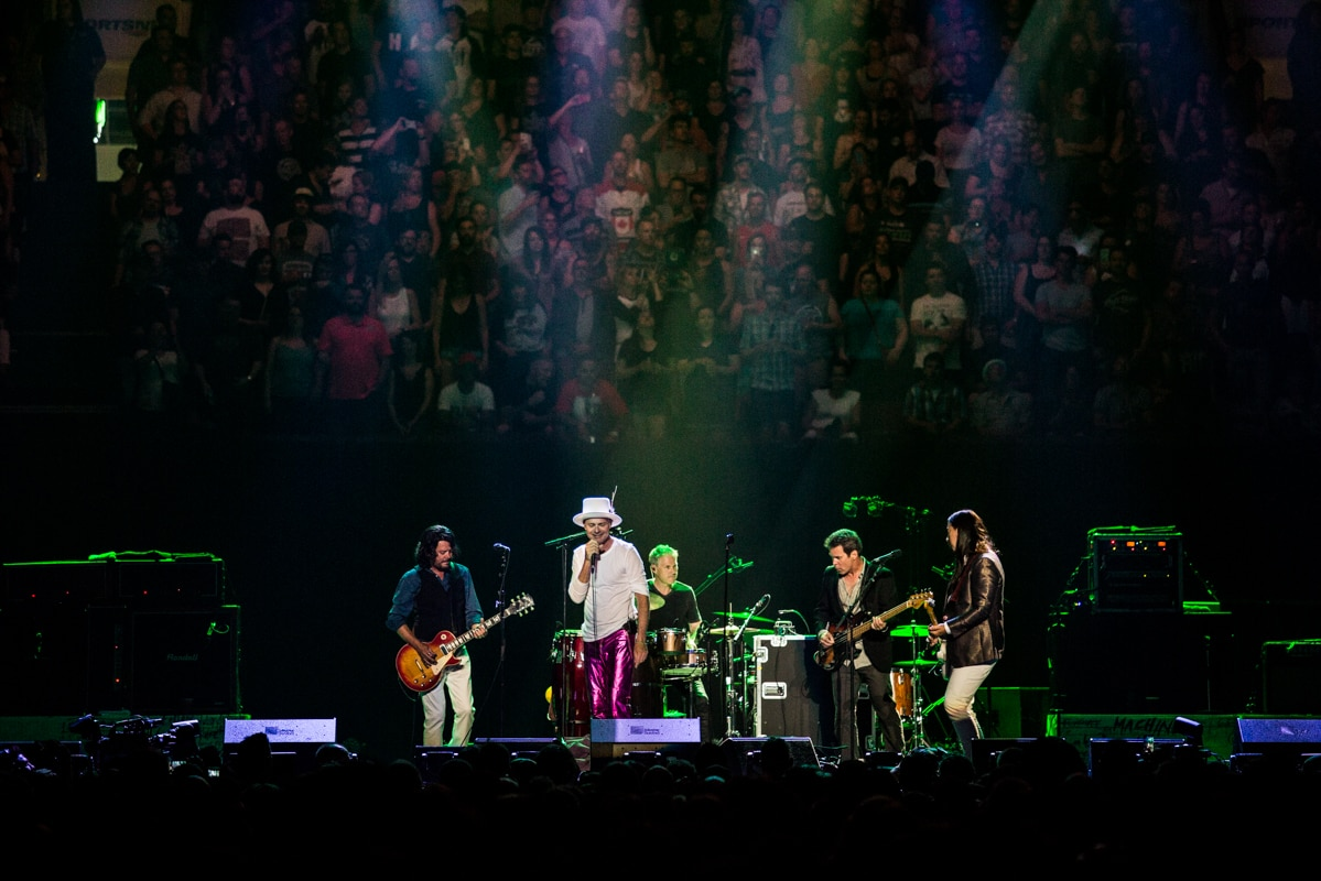 Gord Downie onstage with the Tragically Hip in Kingston, Ont., Aug. 20, 2016.
