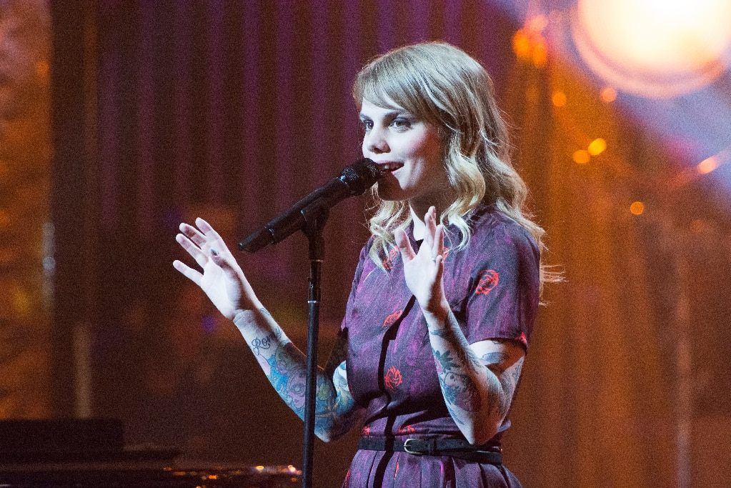 Coeur de pirate performs during FrancoFolies New York: A Tribute to Edith Piaf in New York City, 2013.