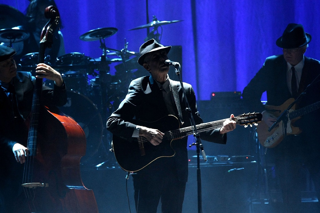 Leonard Cohen performing in New York City, 2009.