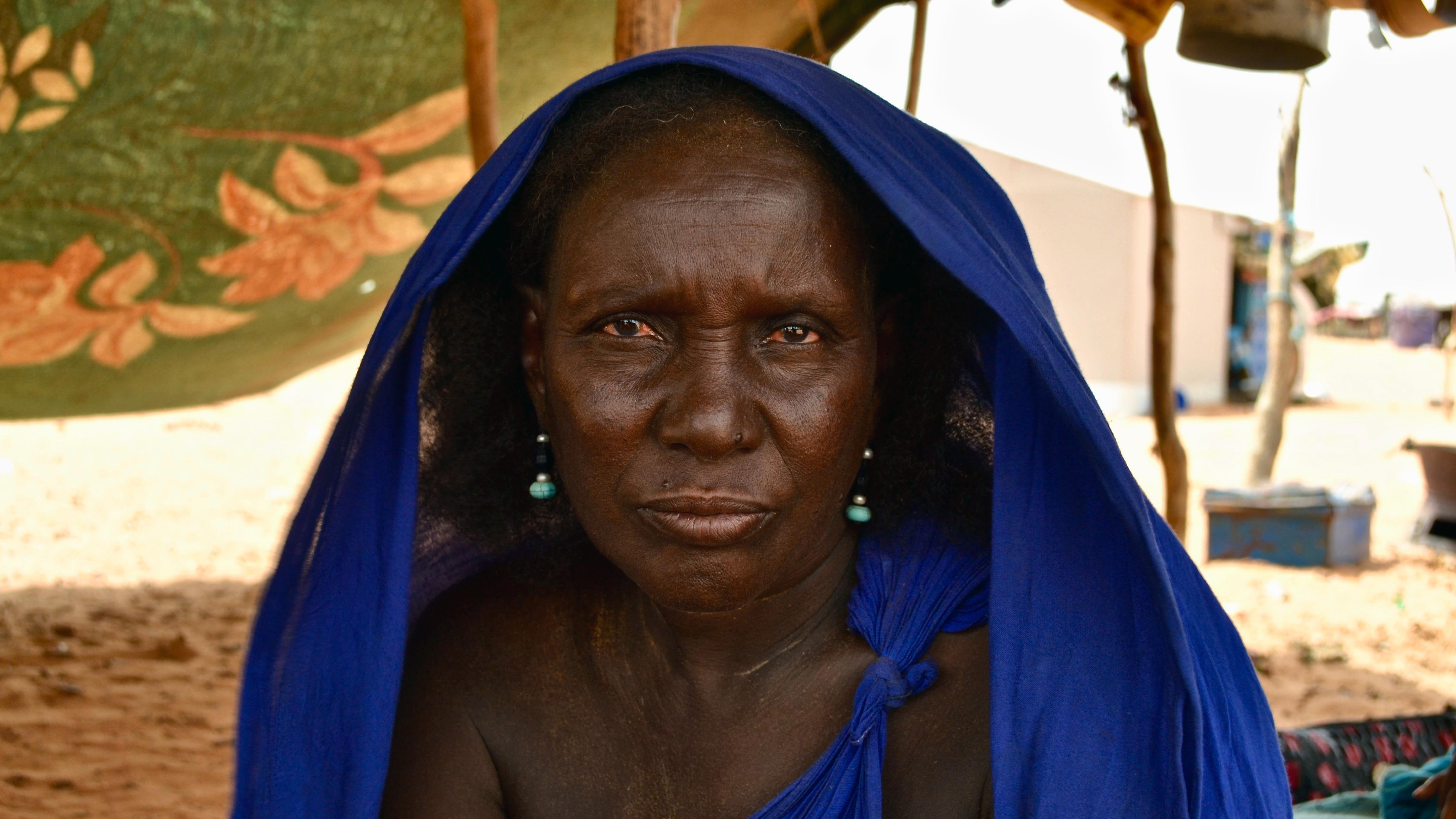 Dada Walet Mohamedoune, 60 ans, réfugiée malienne