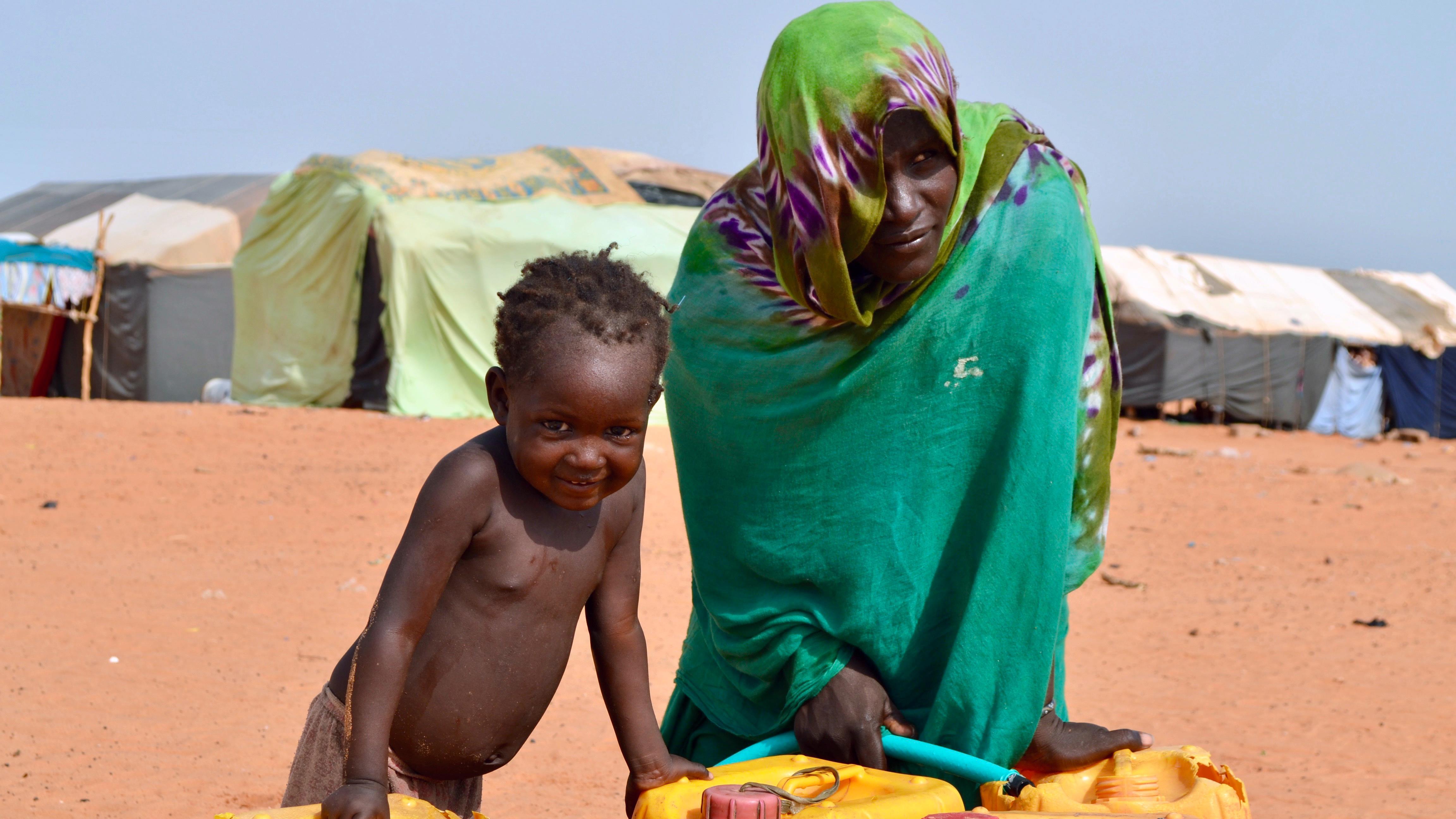 L'eau est rare dans la région désertique de Hodh Ech Chargui, où se trouve le camp de Mbera.