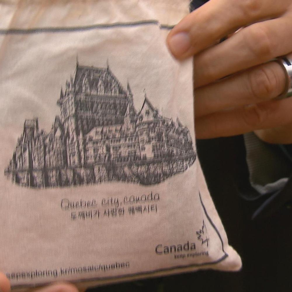 Le Château Frontenac sur un sachet de café