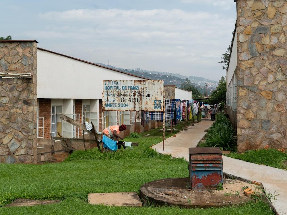 Le jardin de l'hôpital de Panzi.