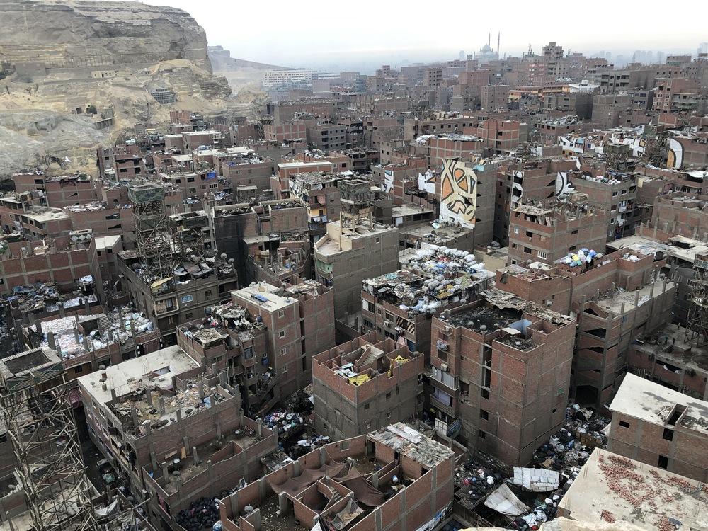 Une vue aérienne du quartier de Manshiyat Nasser, situé au Caire.