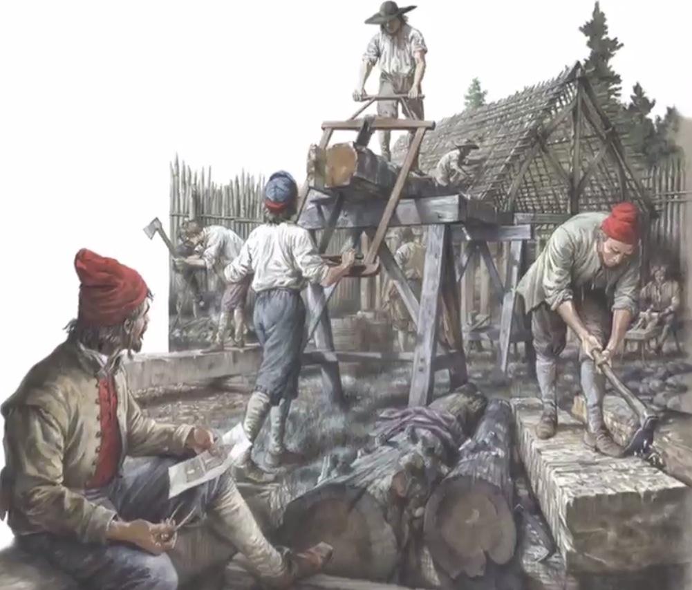Illustration montrant la fondation de Ville-Marie