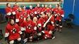 Une équipe de jeunes hockeyeuses