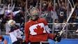 Meghan Agosta-Marciano de l'équipe canadienne de hockey