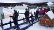Skieurs au Mont-Castor de Matane