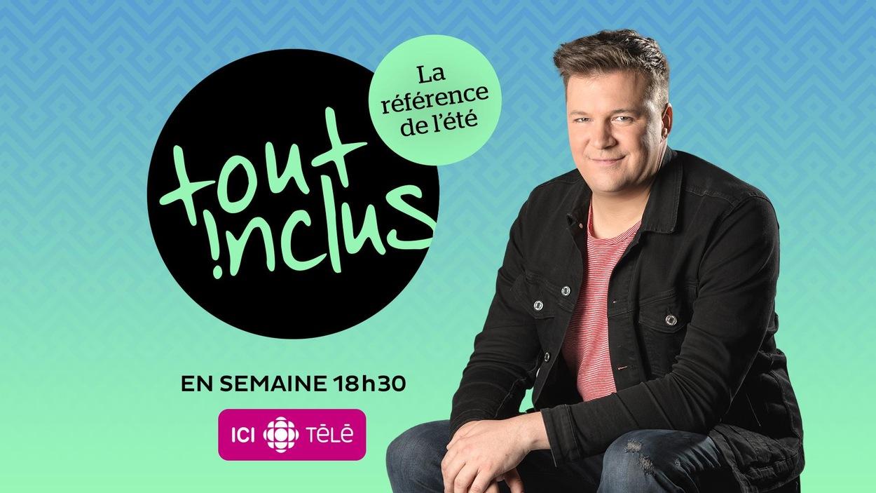 Jean-François Chevrier est assis à côté du logo de l'émission.