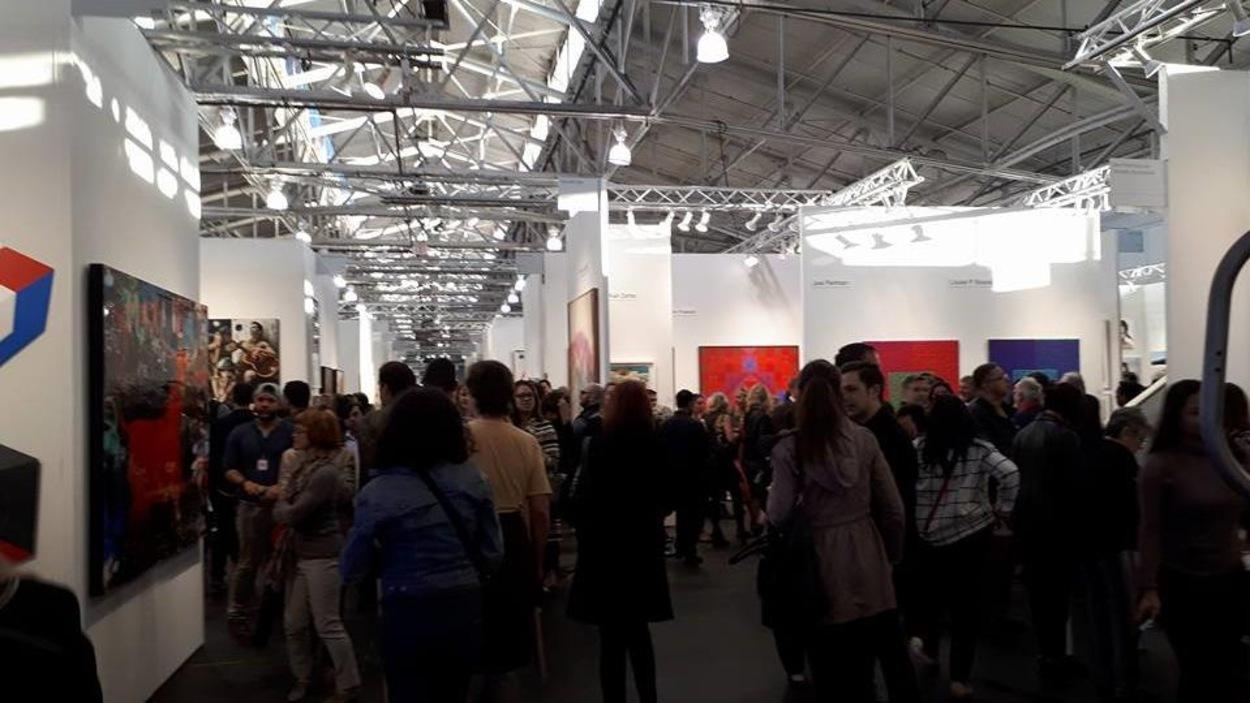 Public au Art Market de San Francisco