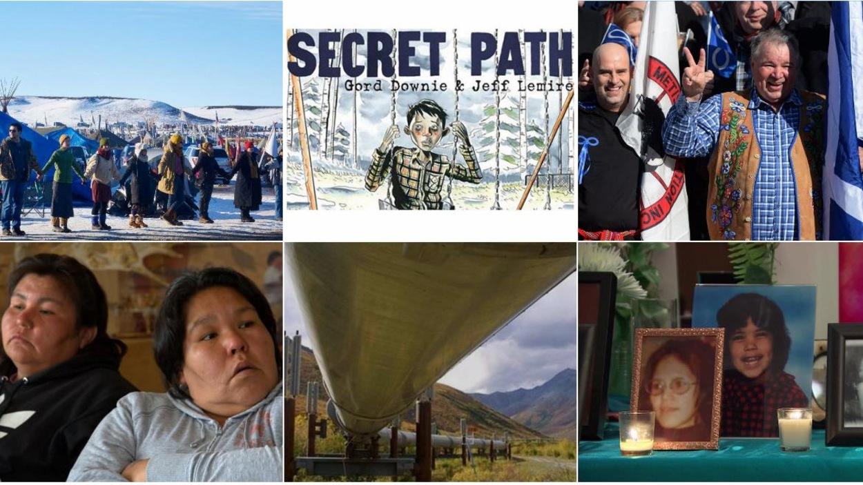 Quelques grands événements qui ont marqué l'actualité autochtone de 2016.