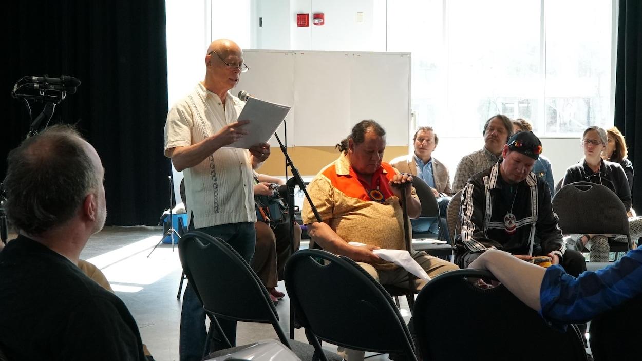 Yves Sioui Durand dirigeait l'État des lieux sur la situation des arts autochtones au Québec les 17 et 18 mai à Montréal.