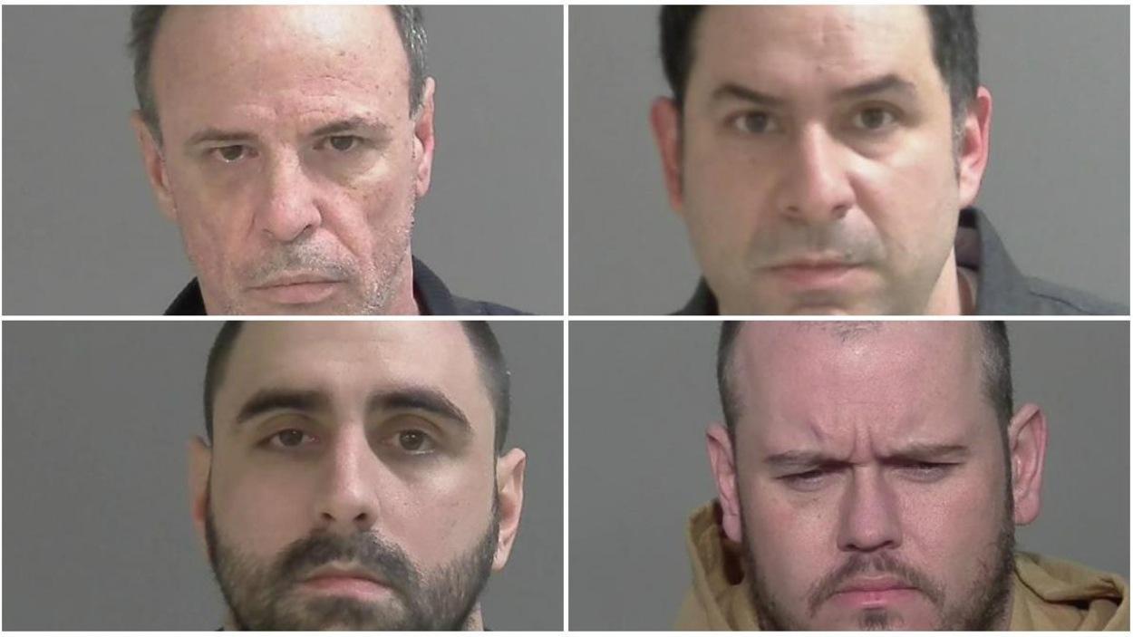 Jacques Bédard, Marco Riuz, Patrick Bujold et Robert Langlois