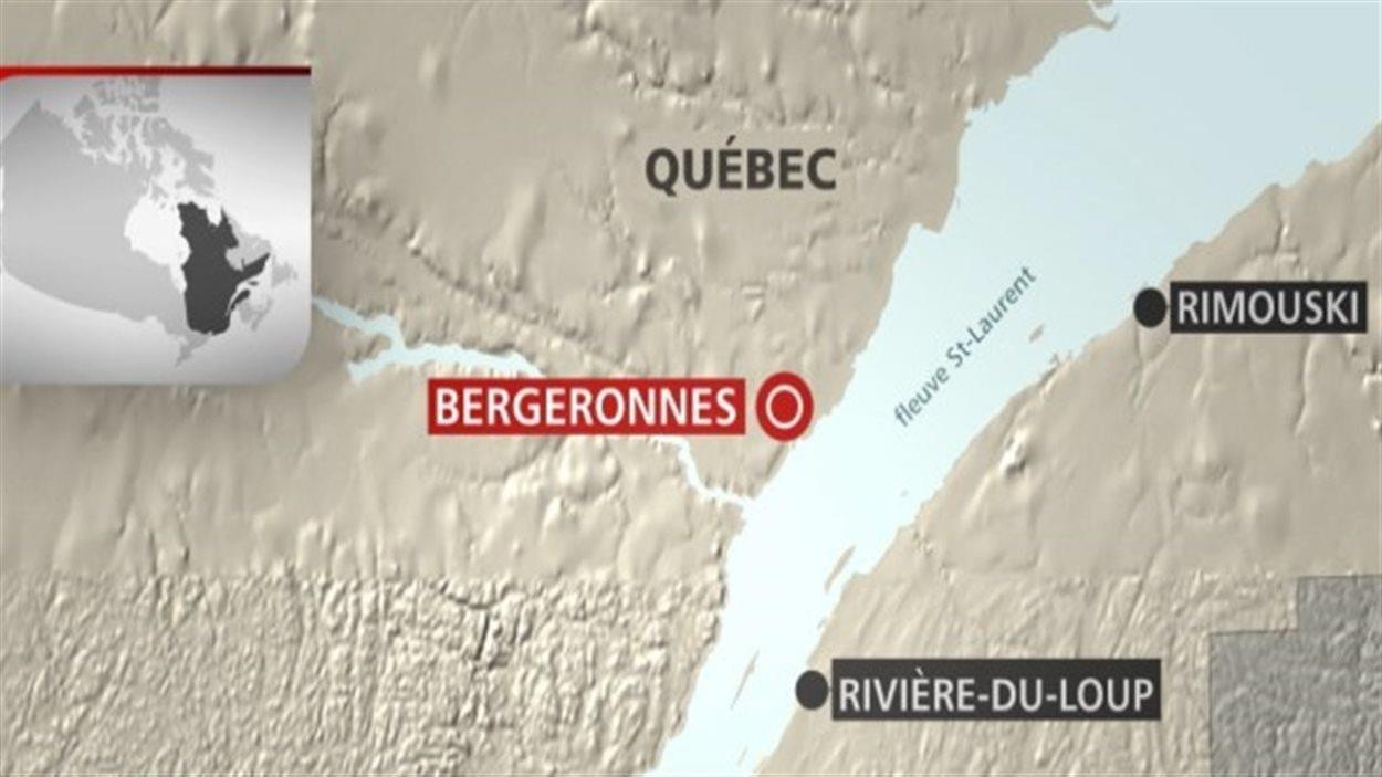 Glissement de terrain dans la municipalité de Bergeronnes.