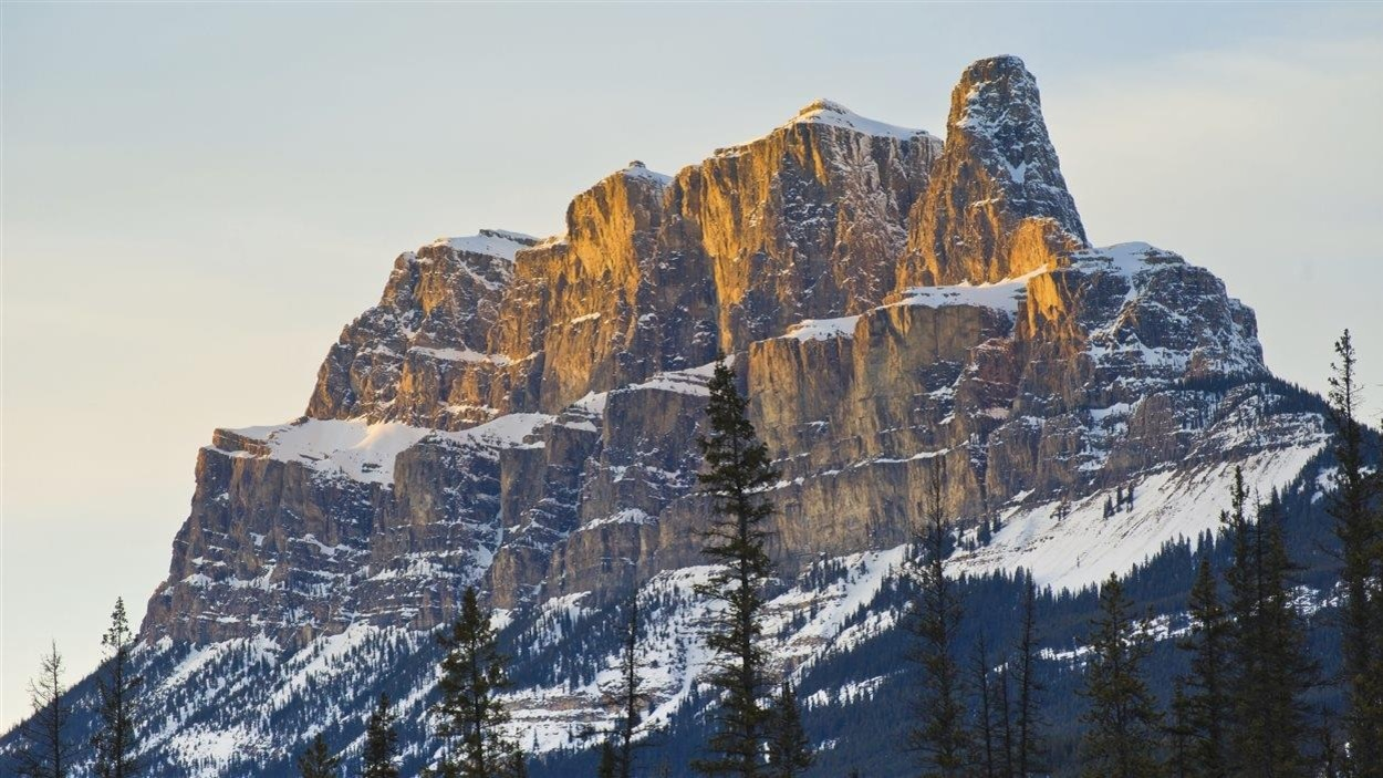 Castle Mountain dans le parc national Banff