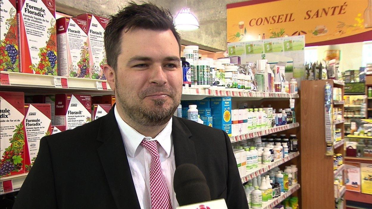 Le directeur général de la Coop Alina, Olivier Riopel