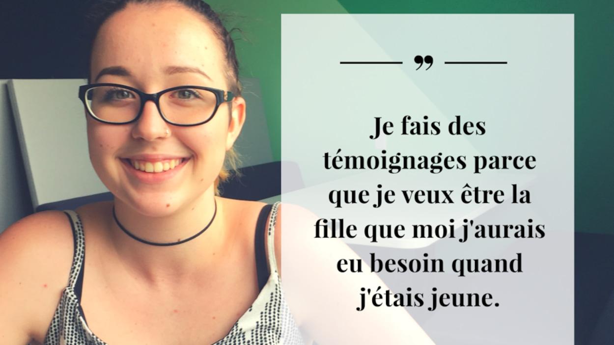 Émilie Rousselle a 17 ans elle est une élève de l'école l'Odyssée de Moncton.