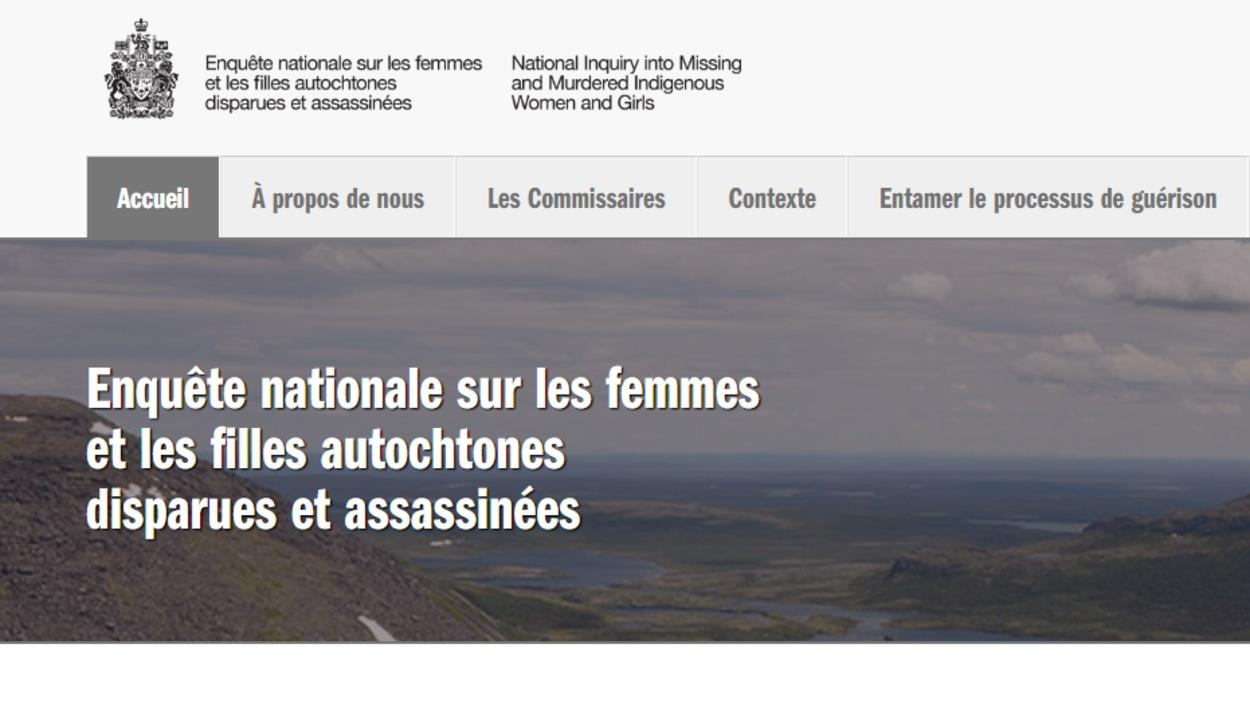Le site officiel de l'Enquête nationale sur les femmes autochtones disparues et assassinées