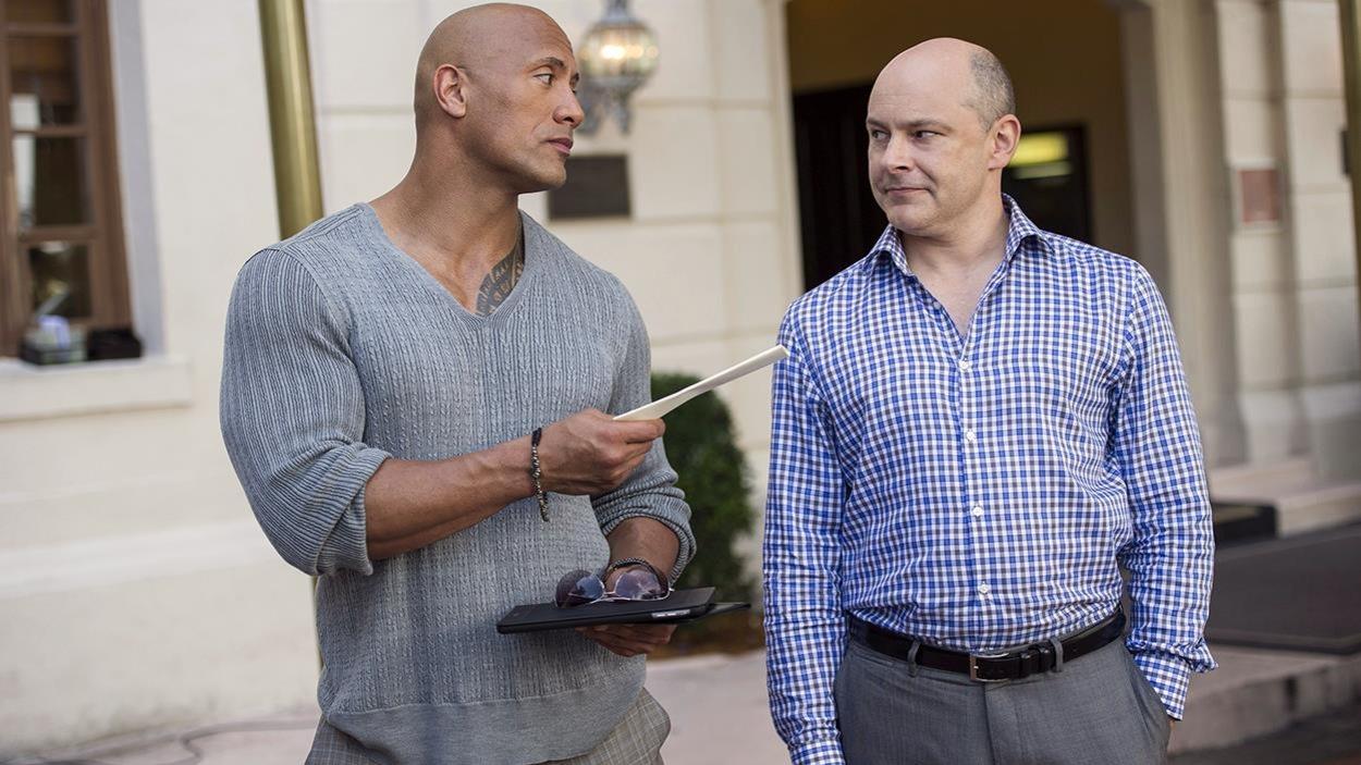 Dwayne Johnson et Rob Corddry dans la série de HBO «Ballers»