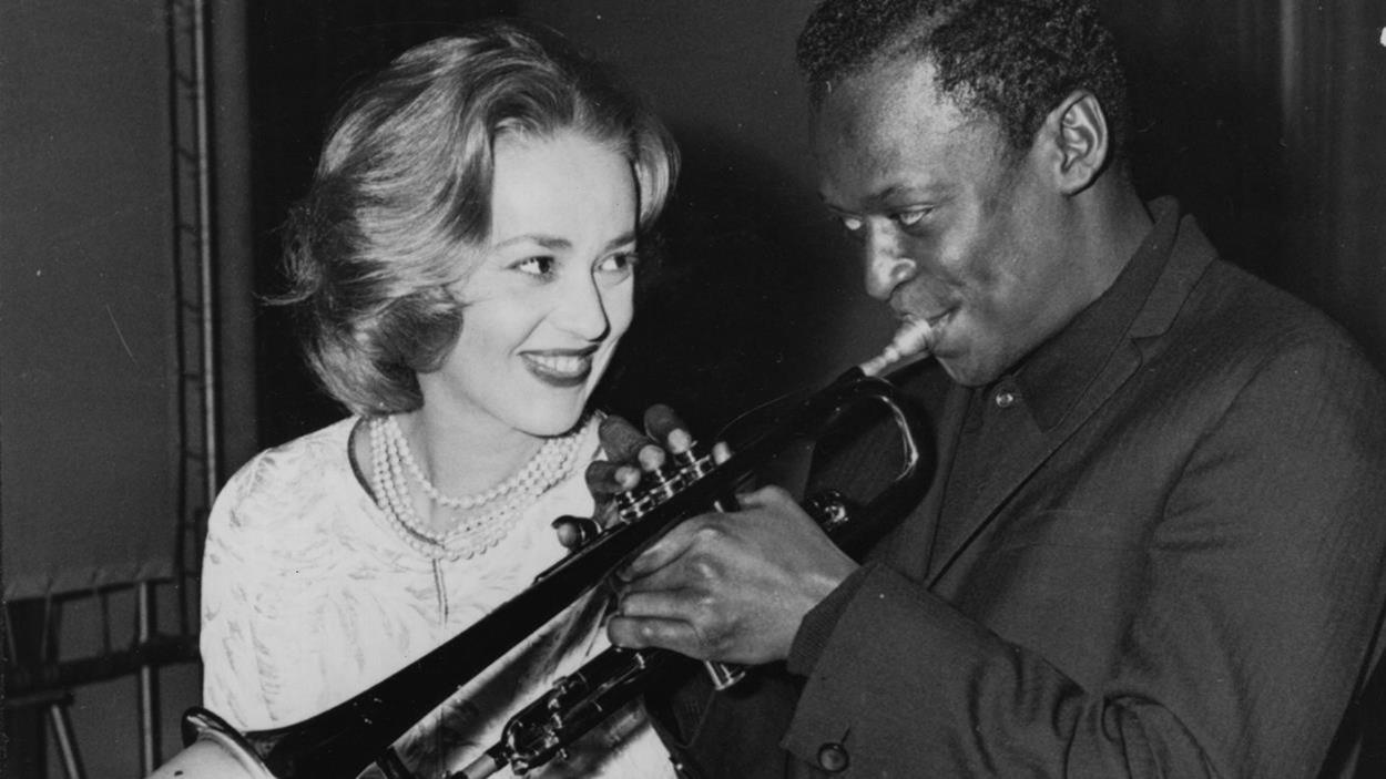Jeanne Moreau et Miles Davis