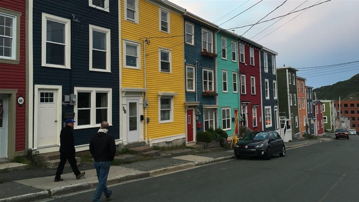 Les maisons colorées de Saint-Jean, Terre-Neuve