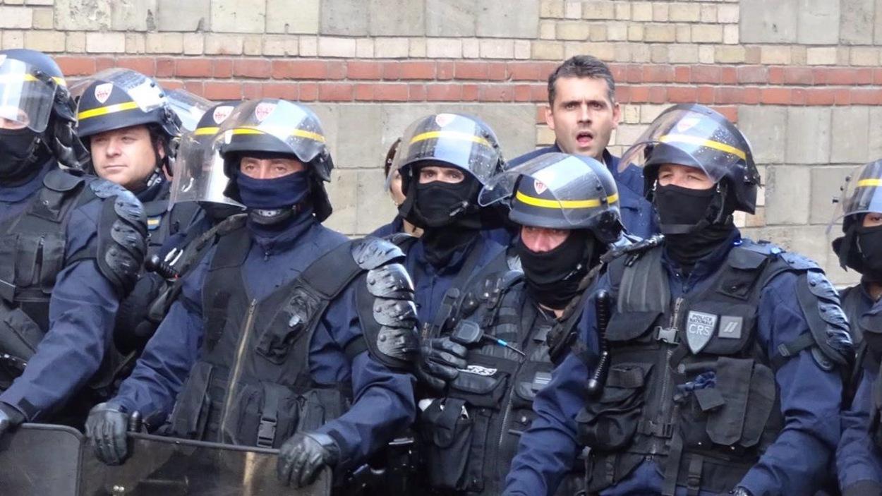 Quelque 1200 policiers étaient mobilisés à Paris pour la manifestation contre la réforme du Code du travail.