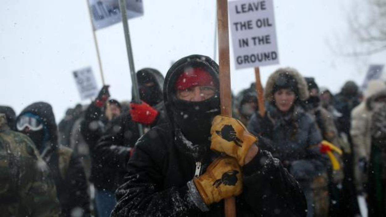 Des manifestants à Standing Rock