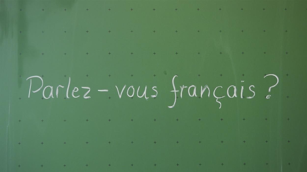 Tableau dans une classe de français