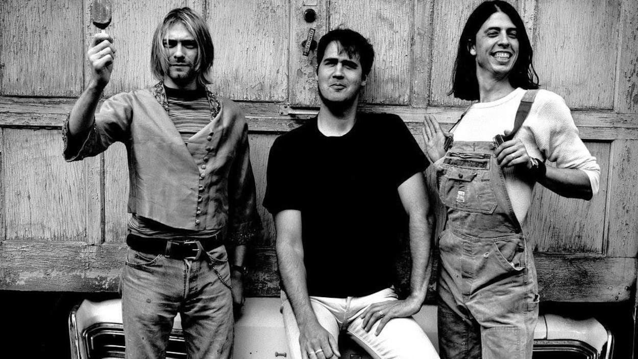 Kurt Cobain, Krist Novoselic et Dave Grohl de Nirvana