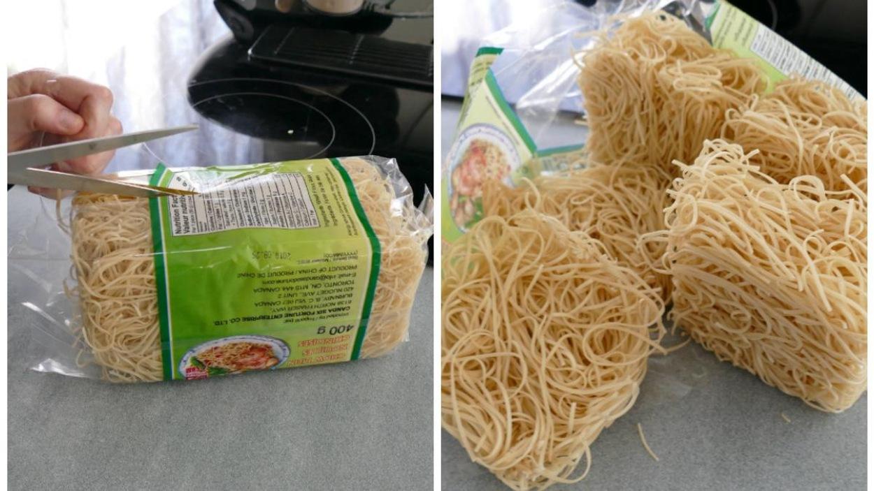 Les nouilles chinoises.
