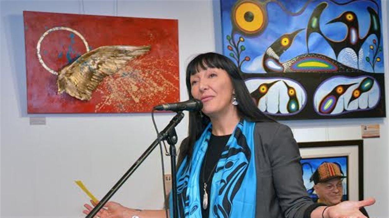 Nadine St-Louis, la directrice générale des Productions Feux Sacrés