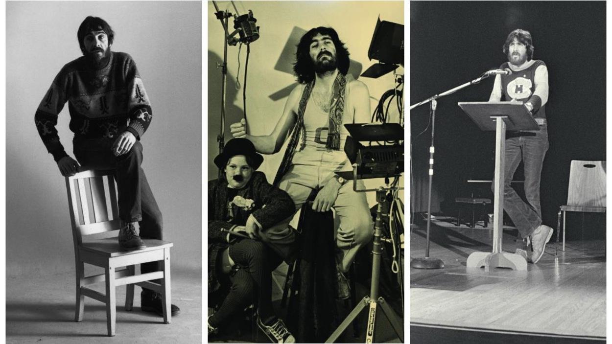 Collage de trois photos qui montrent Robert Dickson.
