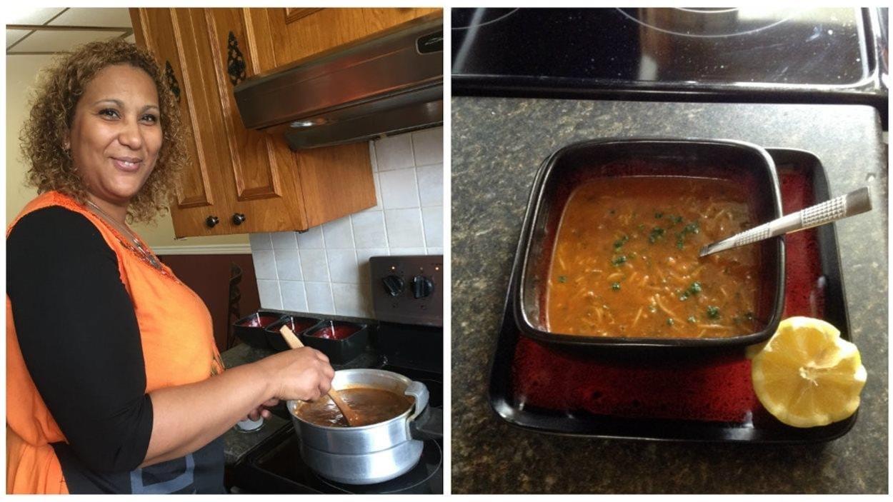 Salwa Meddri prépare la harira