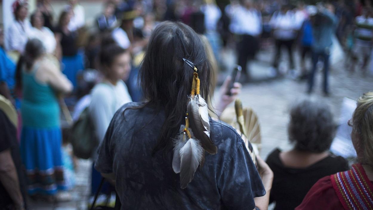 Une manifestation lors de l'audition de la cause en août