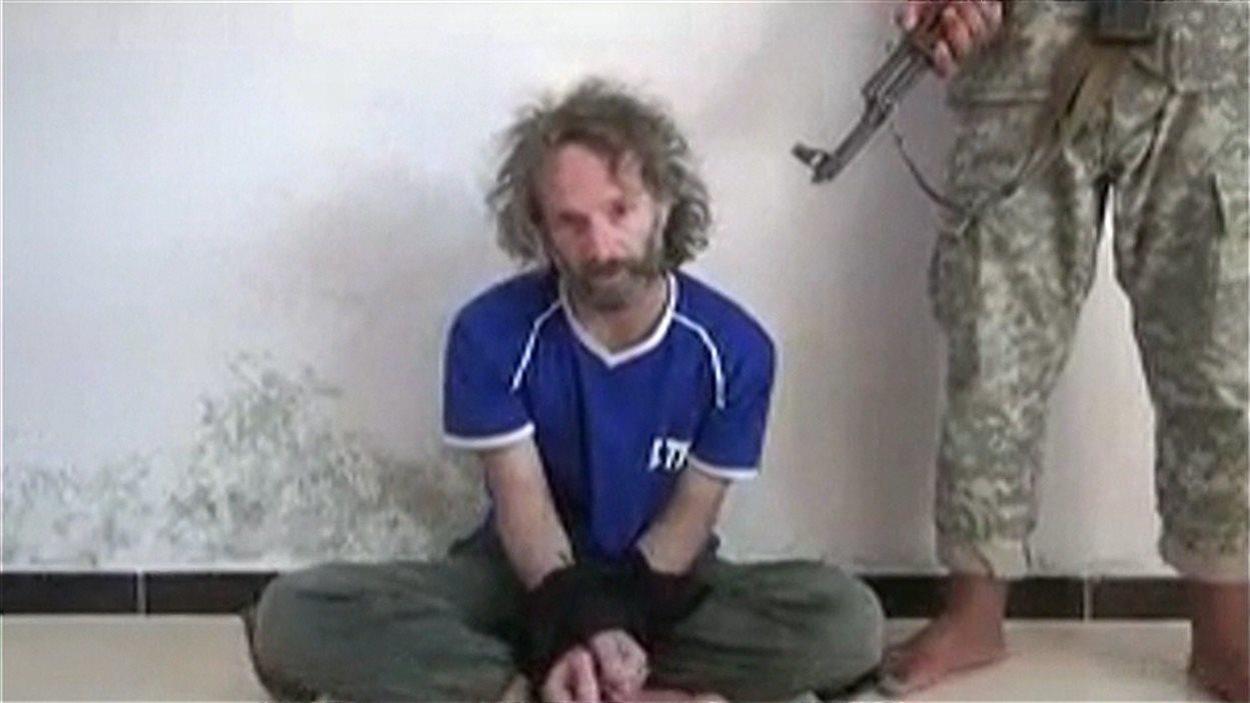 Theo Padnos lors de sa captivité